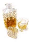 玻璃瓶威士忌酒 免版税库存图片