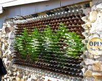 玻璃瓶房子闪电土坎 图库摄影
