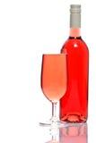 玻璃瓶玫瑰酒红色 免版税库存图片