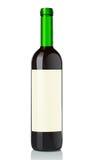 玻璃瓶红葡萄酒 库存例证