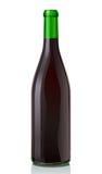 玻璃瓶红葡萄酒 皇族释放例证