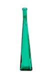 玻璃瓶绿色查出的高葡萄酒白色 免版税图库摄影