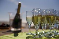 玻璃用香槟 库存照片