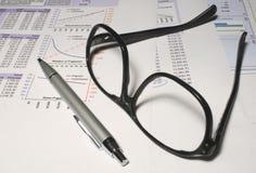 玻璃电子表格 免版税库存图片