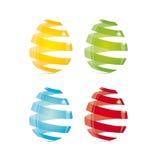 玻璃的复活节彩蛋 库存图片