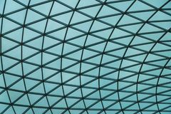玻璃的抽象样式和钢喜欢蜘蛛网 免版税图库摄影