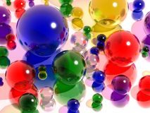 玻璃的球色 免版税图库摄影
