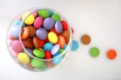 玻璃的糖果 免版税库存照片