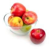 玻璃的苹果 免版税图库摄影