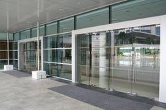 玻璃的门 免版税图库摄影