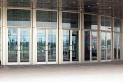 玻璃的门 免版税库存图片