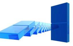 玻璃的Domino 免版税库存照片