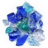 玻璃石头 免版税库存图片