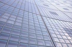 玻璃砖墙壁一个高楼的样式外部 免版税库存图片
