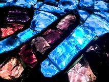玻璃砖马赛克 库存图片