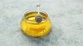 玻璃碗蜂蜜 影视素材