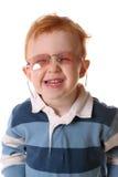 玻璃红头发人上升了微笑 库存照片