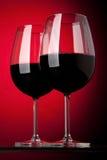 玻璃红色二酒 免版税图库摄影