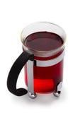 玻璃红色茶 免版税库存照片