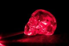 玻璃红色头骨 免版税图库摄影