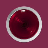 玻璃红顶视图酒 库存图片