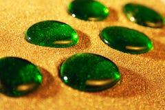 玻璃绿色石头 免版税图库摄影