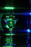 玻璃绿色马蒂尼鸡尾酒 免版税库存照片