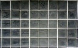 玻璃网格墙壁 库存图片