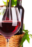 玻璃美味的红葡萄酒 免版税库存图片