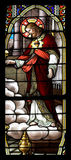 玻璃耶稣被弄脏 图库摄影