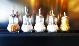 玻璃胡椒盐瓶 库存照片