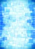 玻璃蓝色正方形 免版税库存照片