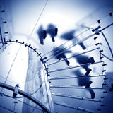 玻璃螺旋形楼梯 图库摄影