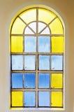 玻璃被弄脏的视窗 库存照片