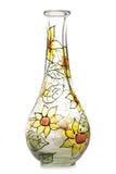 玻璃被绘的花瓶 库存图片