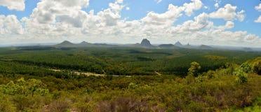 玻璃议院山全景在昆士兰,澳大利亚 免版税库存照片