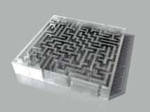 玻璃迷宫 库存图片