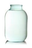玻璃透明查出的瓶子 图库摄影