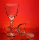玻璃酒 库存图片