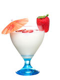 玻璃酸奶 免版税库存照片