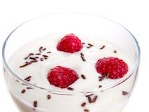玻璃酸奶 库存图片
