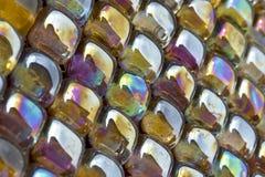 玻璃釉的金属马赛克 免版税库存照片