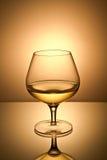 玻璃金子寿命不起泡的酒 库存照片