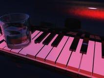 玻璃钢琴 免版税库存照片