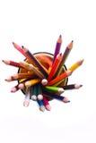 玻璃铅笔顶视图 免版税库存图片