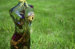 玻璃雕塑妇女 图库摄影
