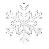 玻璃雪花 向量例证