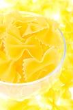 玻璃面条黄色 免版税图库摄影