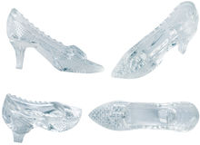 玻璃鞋子妇女 免版税库存图片