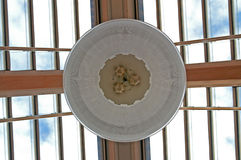 玻璃顶上的屋顶天窗 免版税库存照片